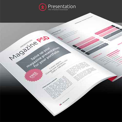 magazine mockup designs in editable psd templates, Powerpoint templates
