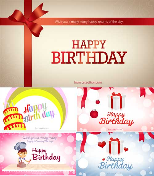 Birthday card template free editable files to download