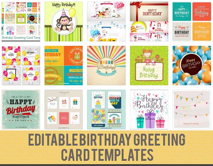 Birthday Card Template 15 Free Editable Files to Download – Download Free Birthday Cards