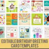 15 Birthday Card Template Files to Download Free