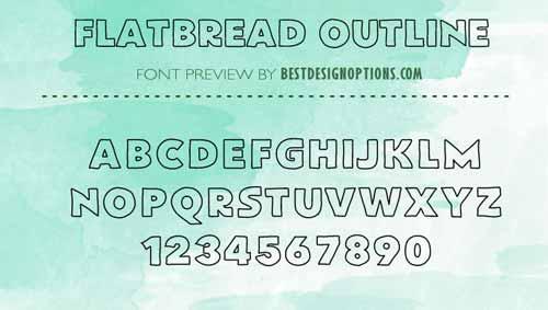 outlined font
