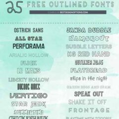 25 Free Outlined Font Types to Download