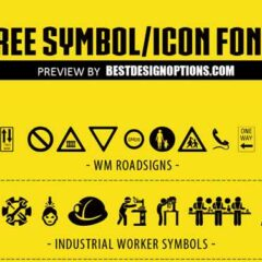 31 Sets of Free Symbol and Icon Fonts for Web and Logo Designs