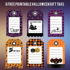 6 Free Printable Halloween Gift Tags
