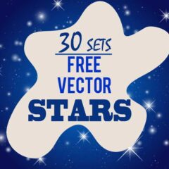 30 Sets of Free Stars Clip Art Vector Graphics for Holiday Designs