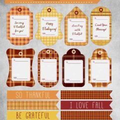 Free Thanksgiving Gift Tags and Note Cards