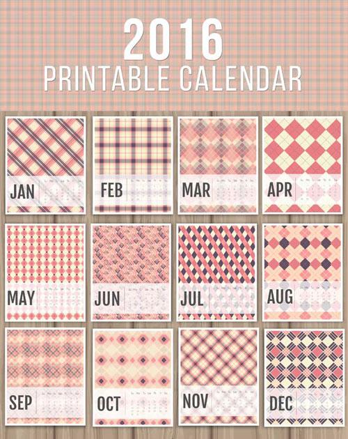2016 printable calendar