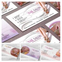 4 Sets of Free Editable PSD Business Card Templates