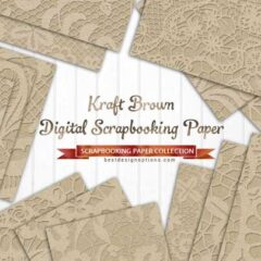 24 Free Scrapbook Papers in Brown Background