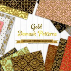 29 Free Damask Pattern Backgrounds With Gold Accents