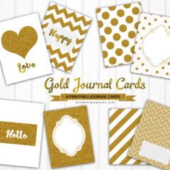 8 Free Printable Greeting Cards in Gold Patterns