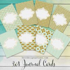 20 Free Printable Card Designs in Mint and Gold