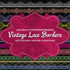 Free Vintage Lace Border Brushes + PNG Image Pack