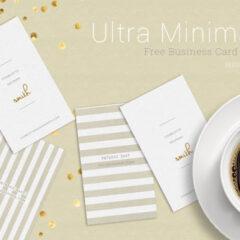 2 Free Ultra Minimalist Business Card Templates