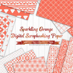 23 Free Orange Background Patterns Plus Digital Papers