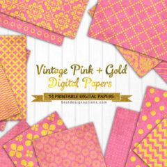 14 Pink Background Patterns for Digital Scrapbooking