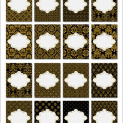 16 Free Printable Journal Cards Featuring Gold Damask Background