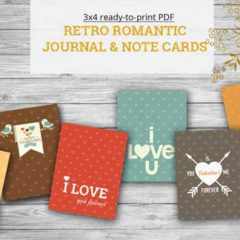 6 Free Retro Printable Valentine Cards and Gift Tags