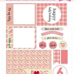 17 Free Baby Girl Journaling Cards, Tags and Labels in Pink