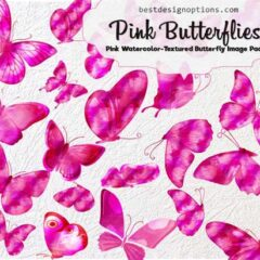 Butterfly Clip Arts: 21 Photoshop Brushes + PNG Images