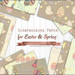 16 Free Easter Background Patterns in Soft Pastels