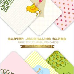 Free Printables: 6 Cute Easter Journaling Cards