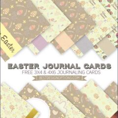 Free Easter Cards for Journaling Plus Gift Tags
