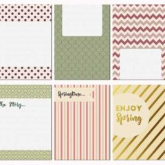 12 Free Journaling Cards: Rustic Spring