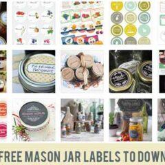 100+ Mason Jar Labels Free to Download