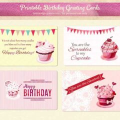 Free Printable Birthday Cards, Gift Tags and Labels