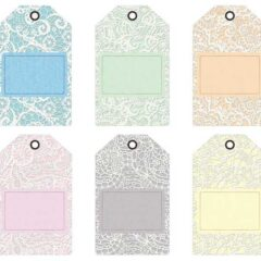 Printable Gift Tags, Ribbons and Journaling Cards in White Lace and Denim