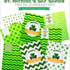 Journaling and Greeting Cards, Gift Tags in Green for St. Patrick's Day