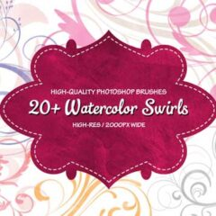 20+ Free Watercolor Swirls Brushes