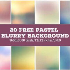 20 Free Blurred Backgrounds in Pastel Colors