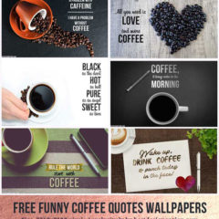 6 Exclusive Funny Coffee Quotes Wallpapers