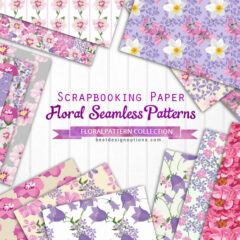 13 Free Floral Background Patterns in Pink and Purple