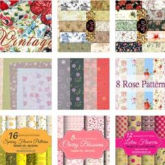 160+ Free Digital Papers With Floral Backgrounds