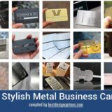 21 Stylish Metal Business Cards for Inspiration