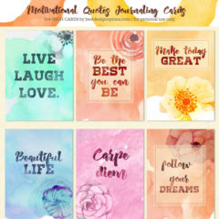 12 Printable Note Cards with Motivational Quotes