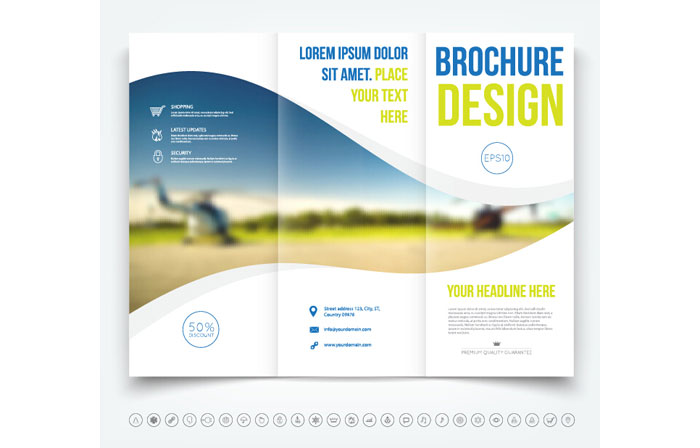 Trifold Brochure Template Free EasytoCustomize Designs - Three fold brochure template free download