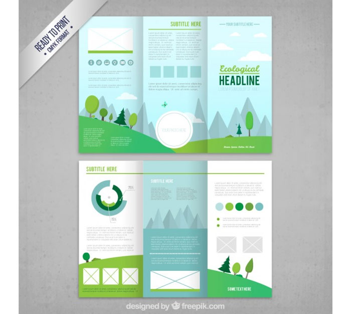 Tri fold brochure template 20 free easy to customize designs for Simple tri fold brochure template