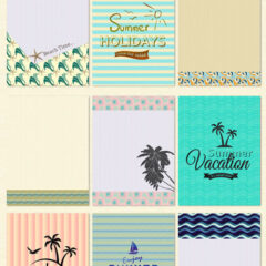 9 Free Summer Post Cards for Your Journaling Projects
