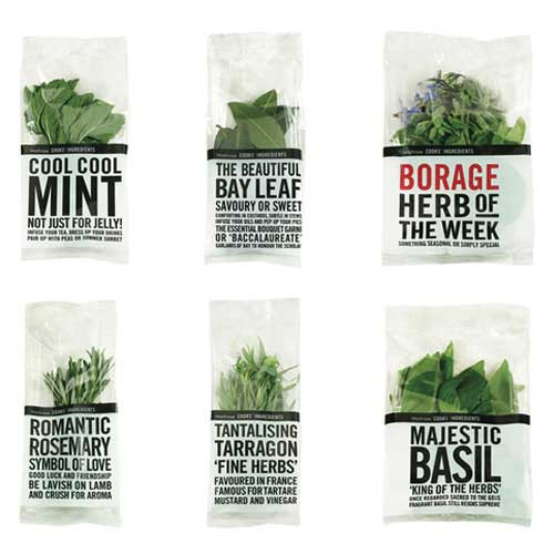 minimally packaged pot carries bold tabloid style text telling you