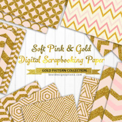 Scrapbooking Papers Featuring Chevron Designs