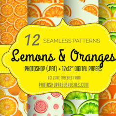 Freebies: Fruity Background Patterns Featuring Lemons and Oranges