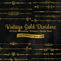 Vintage Clip Art Dividers: Free PS Brushes + PNG Pack