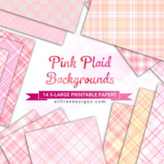 Pink Plaids: 14 Free Soft Pastel Backgrounds