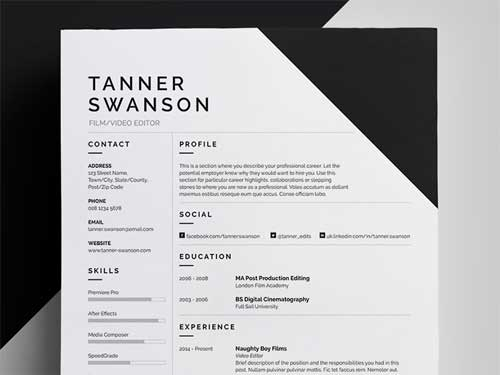 B. Ai ILLUSTRATOR RESUME TEMPLATE DESIGNS  Resume For Designers