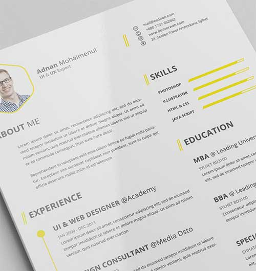 Resume Template  Edit Resume