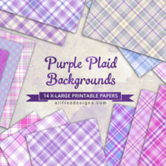 Free Purple Plaids Seamless Patterns and Digital Papers